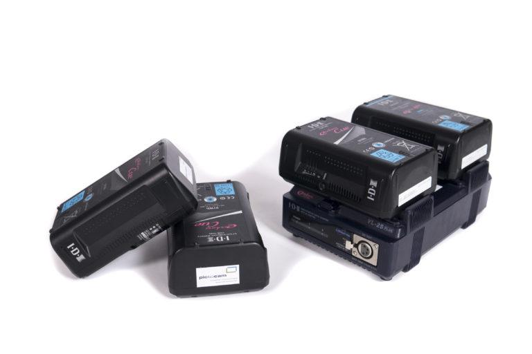 IDX Akku Set mit 4 Akkus+2fach Lader mieten