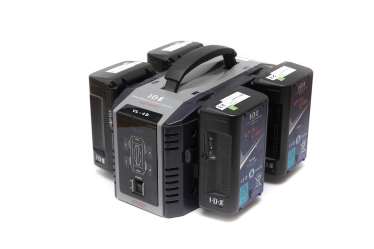 IDX VL-4s Ladegerät VMount Akkus im Set mit IDX Endura cue D150Wh mieten